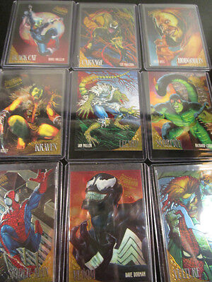 Marvel 1995 Fleer Ultra Spider-Man GOLDEN WEB - COMPLETE 9 CARD SET