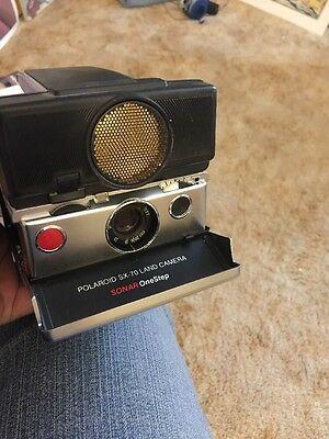 Polaroid SX 70 Land Camera Sonar One Step As Is Untested