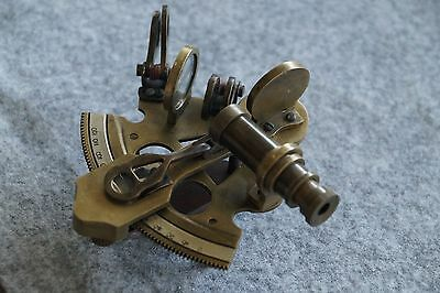 Vintage Brass Sextant Astrolabe Working Instrument Navy Ship Gift 4''