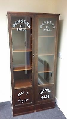 Mahogany Shop Display Glazed Cabinet
