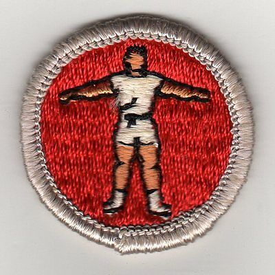 Personal Fitness Merit Badge Type G, Cloth Back  (1969-71), Mint!