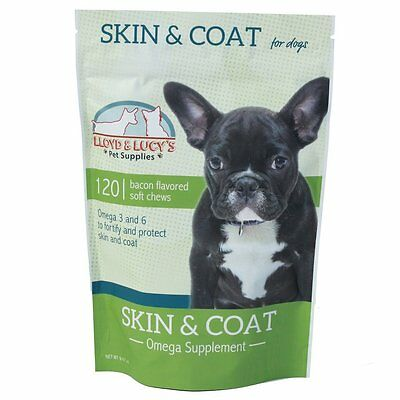 Skin and Multivitamins Coat Omega Supplement for Dogs, Omega 3 and 6 for Healthy