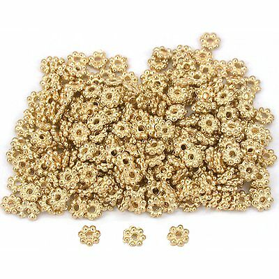 Daisy Bali Spacer Beads Gold Plated 4mm 15 Grams