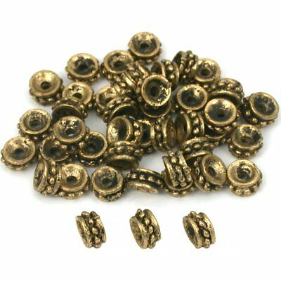 Bali Spacer Beads Antique Gold Plated 6mm Approx 45
