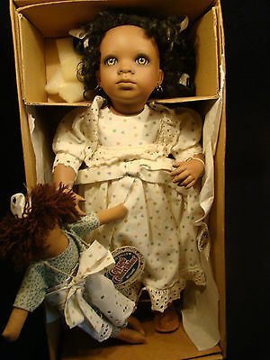 Makesha Porcelain Doll by Ganz Cottage Collectibles African American NIB COA @26