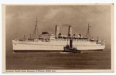 Vintage Postcard - RMS Empress of France. Canadian Pacific Line