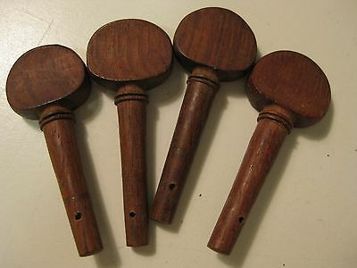 Set of Vintage Violin Small Rosewood Pegs Tuners for Project / Repair / Upgrade