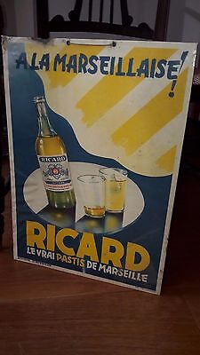 RICARD Marseille plaque No tôle CARTON Pastis Sign STARR affiche BISTROT bar
