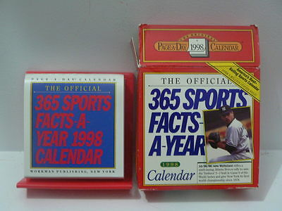 1998 Calendar: Official 365 Sports Facts-A-Year