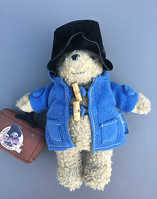 """Limited Edition Paddington Bear 9"""" 2008 With Suitcase And Hat Collectable Retro"""