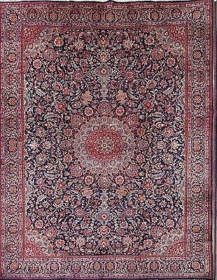 Great Deal Floral Navy Blue 10x13 Kashmar Persian Oriental Area Rug 12' 9 x 9' 6