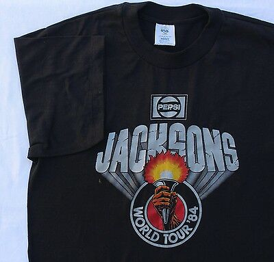 Vintage 84 Jacksons World Tour Rock Concert Promo T Shirt
