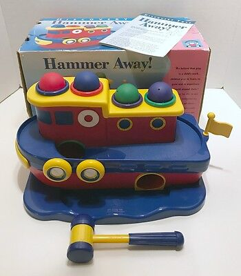 Hammer Away! by Discovery Toys Complete Discontinued Set w/ Original Box GUC