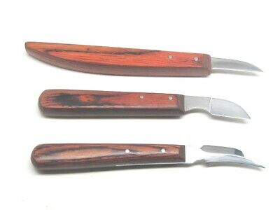 Ramelson Wood Carving Tools Chip Carving Knife Set 3 pc Whittling Woodworking