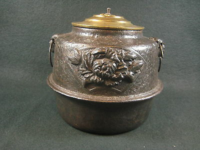 Antique Japanese Chagama Chado Tea Ceremony Cast Iron Water Pot