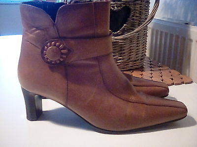 K by Clarks,, Tan Ankle Boots, size 7 -1/2