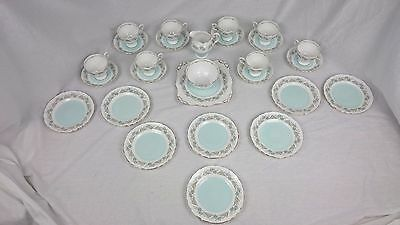 Tuscan fine English bone china complete set 8 cups and saucers - Tresco