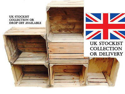 Wooden Crates Storage Box Fruit Crates Box Shabby Chic £5 Each!