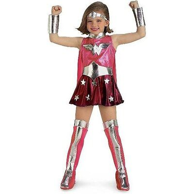 BRAND NEW Licensed DC Comics CHILD GIRLS PINK WONDER WOMAN COSTUME Size TODDLER