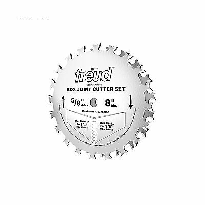 Freud SBOX8 Box Joint Cutter Set Cuts 1/4-Inch and 3/8-Inch Grooves