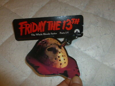 Friday The 13th Promotional Horror Nice Shelf Talker 1986 Video Store Bloody 1-4