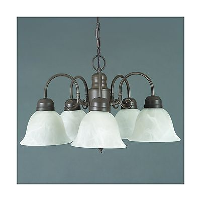 Yosemite Home Decor 1435-5DB Manzanita 5 Light Chandelier Frosted White Marbl...