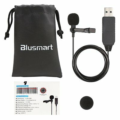 Microphone for Computer, Blusmart Omnidirectional USB Microphone Condenser Mic