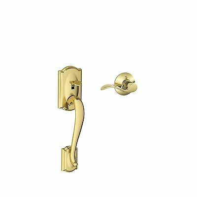 Schlage FE285 CAM 505 ACC RH Camelot Front Entry Handleset with Interior Acce...