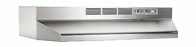 Broan 413004 Economy 30-Inch Two-Speed Non-Ducted Range Hood Stainless Steel