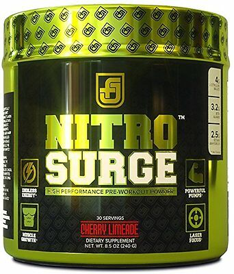 Jacked Factory NITROSURGE Nitric Oxide Booster and Preworkout Energy Powder, 30