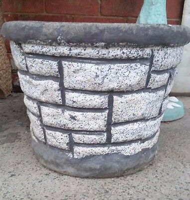 LARGE vintage retro CONCRETE GARDEN POT mid-century planter Featherston ERA