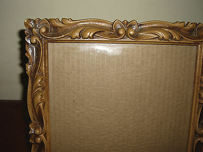 """Faux Carved Wood Picture Frame 8"""" x 10"""""""