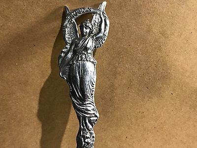 Los Angeles City Of Angels FIGURAL ANGEL STERLING SILVER SOUVENIR SPOON Vintage