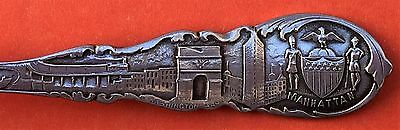 New York Skyline Manhattan Gift For Or From Dora Sterling Silver Souvenir Spoon