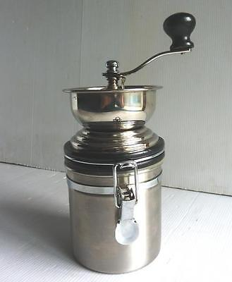 Stainless Steel Coffee Grinder/Mill with Storage - V.G.C