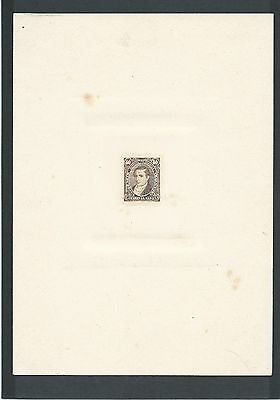 Argentina, telegrafos, rare proof on thick paper