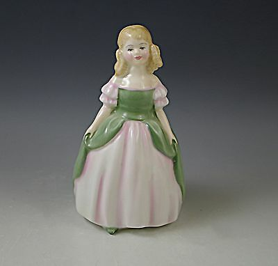Royal Doulton Penny Figurine #2338 Pink-Green Dress Peggy Davies