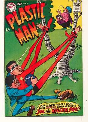 Plastic Man (1966 series) #9 in Very Fine + condition. FREE bag/board