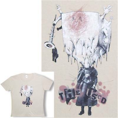 The Used Dripping Blockhead Girls Juniors Tan T-Shirt Xl  New Official Band