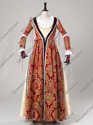 Medieval Renaissance Fair Game of Thrones Dress Queen Gown Theater Clothing 380