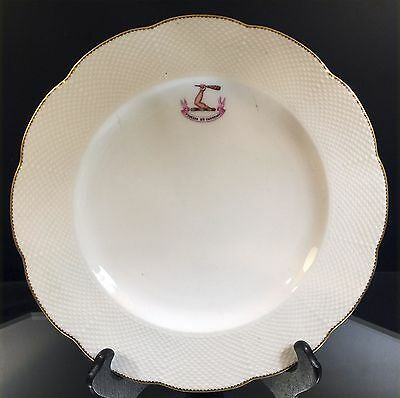 """Minton--Armorial Plate--John Mortlock--London--""""faithful And Constant""""--Buy It N"""