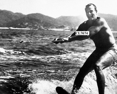 John Wayne in a Bathing Suit Waterskiing in Acapulco Bay, Mexico Photo