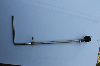 Vintage 50's nickle bass drum mounted cymbal arm. Gretsch, Radio King