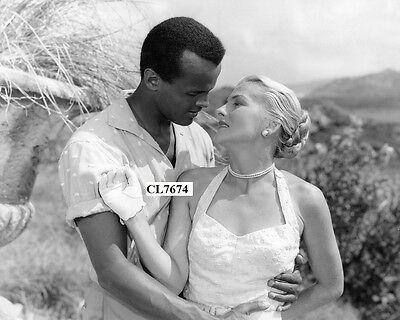 Harry Belafonte and Joan Fontaine in the Movie 'Island in the Sun' Photo