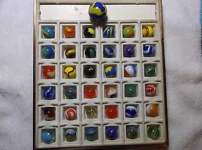 Very Nice Lot of Antique / Vintage Marbles With A Shooter