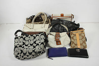 Lot of 10 Wholesale Mixed Designer Brands Coach Kate Spade Bags Wallets