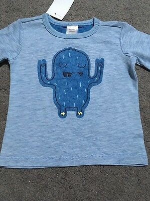 BNWT Baby Boys Long Sleeve Blue Top Size 0