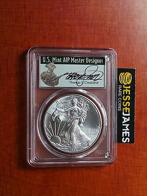 2015 (P) Silver Eagle Pcgs Ms69 T. Cleveland Struck At Philadelphia Mint 79,640