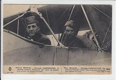 AK 1WW, France, Guerre, Boxeur Georges Carpentier - pilote aviateur 1915