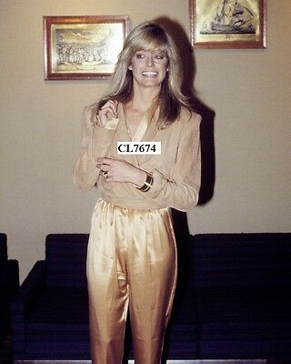Farrah Fawcett at a Press Conference in London Photo